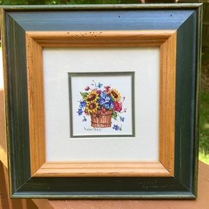 Other - Barbara Mock framed painting Sunflowers